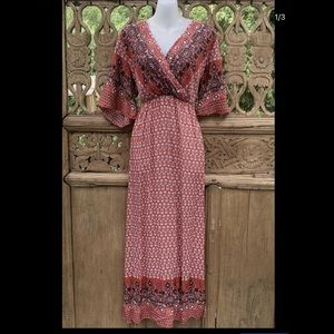 BNNT Earthy Paisley Maxi Dress LARGE